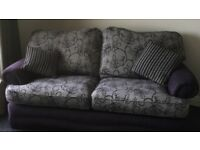 2 seater & 3 seater sofa from pet and smoke free home . Excellent condition