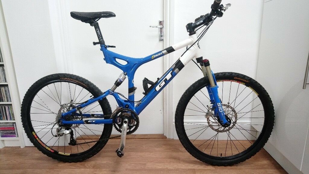 Mountain bike, full-suspension, GT i-Drive 4.0 blue & white 20 ...