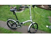 Nice clean apollo transition folding bike