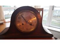 Antique Napoleon Hat Mantle Manual Wind Clock Working Condition