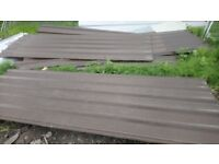 ROOFING SHEETS BROWN 10FT METER COVER