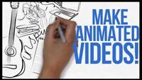 Création des vidéos animés sur mesure