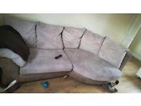 Cream/beige sofa/settee