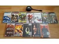 PSP Games, Movies & Case Bundle