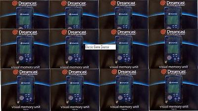 12 LOT NEW Blue VMU Virtual Memory Cards SEGA DREAMCAST