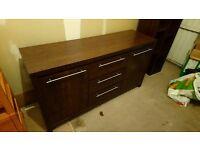 NEXT - Dark wood sideboard unit and shelving unit