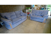 Used but comfortable 2 & 3 seat sofas