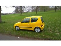 51 Plate 1.1 3 door Fiat Seicento Sporting Schumacher Limited Ed. in Yellow with White Abarth Wheels