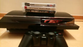 PlayStation 3 60GB 3.55 FW New Thermal Paste + 3 games + Pad + PS2 BC (CECHC03)