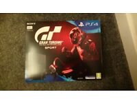 Brand new PS4 console Gran Turismo Sport . Unwanted Phone contract gift.