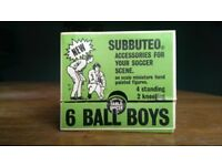 Vintage Subbuteo Ball Boys - rare football stadium accessory