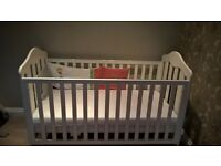 Mamas & Papas cot/toddler bed in white.