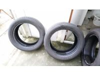 4 Part-worn Eagle F1 Tyres 235/50R18