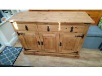 Rustic Farmhouse Pine sideboard cupboard
