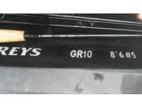 GREYS gr10 ,fly fishing rod new 8foot6inch 5weight