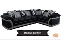 New sabrina black and grey corner sofa**Free delivery**