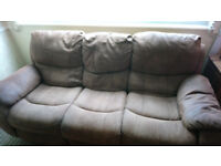 2x3seater recliner sofa