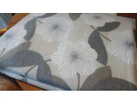 NEW John Lewis cotton lined curtains. 72inch drop. Modern floral. Cost £120