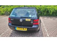 Black VW Golf GTI 2003 for sale, MOT May 2019, fully serviced in May