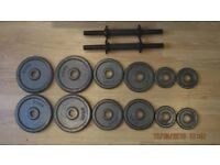 Barbell Weight Set - Great Condition - 20KG Total Weight