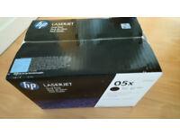HP 05 X 2-pack High Yield Black Original LaserJet Toner Cartridges - SEALED
