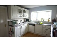 Solid oak painted kitchen with appliances