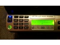 HP 4500 Wireless All-in-One Inkjet Printer,good condition.