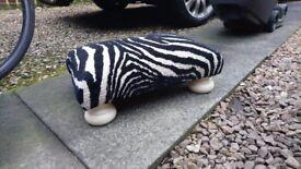 Small zebra print foot stool
