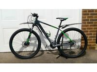 "Cube Analog 19"" MTB - Grey/Green - only 4 months old - used twice and unmarked"