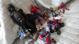 Action Figures - spiderman batman star wars