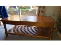 Quality Honey Pine coffee Table