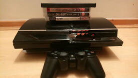 PlayStation 3 60GB 3.55 FW + 4 games + Pad PS2 BC (CECHC03)