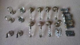 Set of 7 crystal door handles