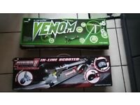 Zinc VENOM (new) + Zinc NITRO (used once) scooters for sale - £10 each or both for £15