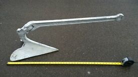 Boat Anchor, 22kg CQR in galvanised steel