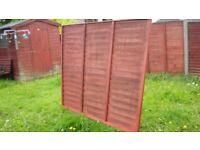 20 x 6' x 6' Wooden Fence Panels