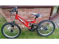 "hi here we have a 20"" TTAX TFS 20 BIKE IN RED JUST NEEDS A NEW GEAR CABLE £20"