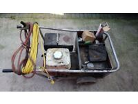 Honda 200amp genset arc welder with leads
