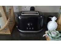 Black and silver toaster
