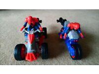 Spiderman Blast N' Go Spider Cycle and Quadbike