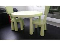 Kids table and two chairs from Ikea