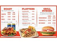 Digital menu board for Restaurant Takeaway fast Food