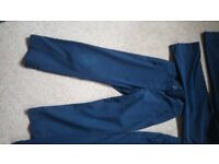 Navy girls school uniform trousers (3 pairs), Marks and Spencer age 7-8, worn but in good condition