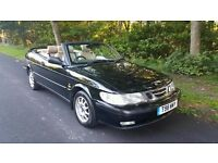SAAB 9.3 TURBO SE CONVERTIBLE 1999 T. DOCUMENTED HISTORY. MOT MAY 2017.