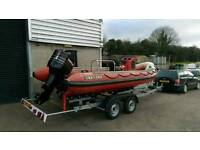 5.5M Tornado RIB Boat for Fishing or Diving. No outboard or trailer.
