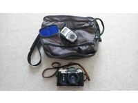 Zenit E film camera with Helios 44-2 and accessories