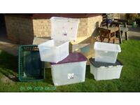 Storage boxes and Wooden packing cases