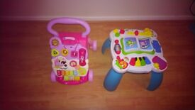 Vtech walker and leapfrog standing learn and groove musical table toys