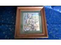 Collection of 6 Jane Hissey's pine framed picture's