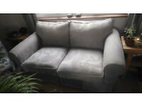 Grey Fabric Sofa (remvovable wasable covers)